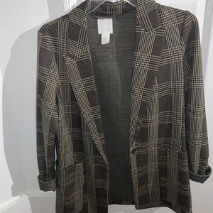 H&M Plaid Blazer